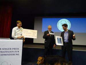 Verlehung des 5. Peter-Singer-Preises für Strategien zur Tierleidminderung 2019